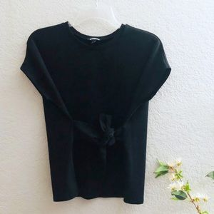 Express Black Tie Front Top size small